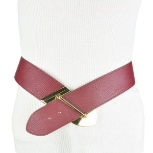 BCBGeneration Exotic  Red Waist Belt Faux Leather